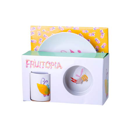Fruitopia detský porcelánoý set 3ks - Kids world
