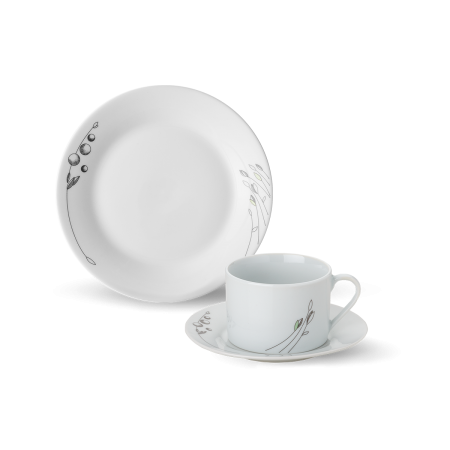 Porcelánový set Wild Leaf 18 ks